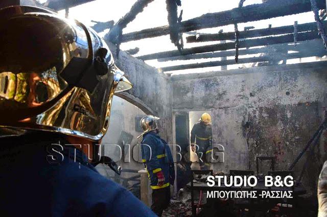 Πυρκαγιά σε οικία στα Λευκάκια Ναυπλίου