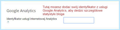Google Analytics na platformie Blogger.