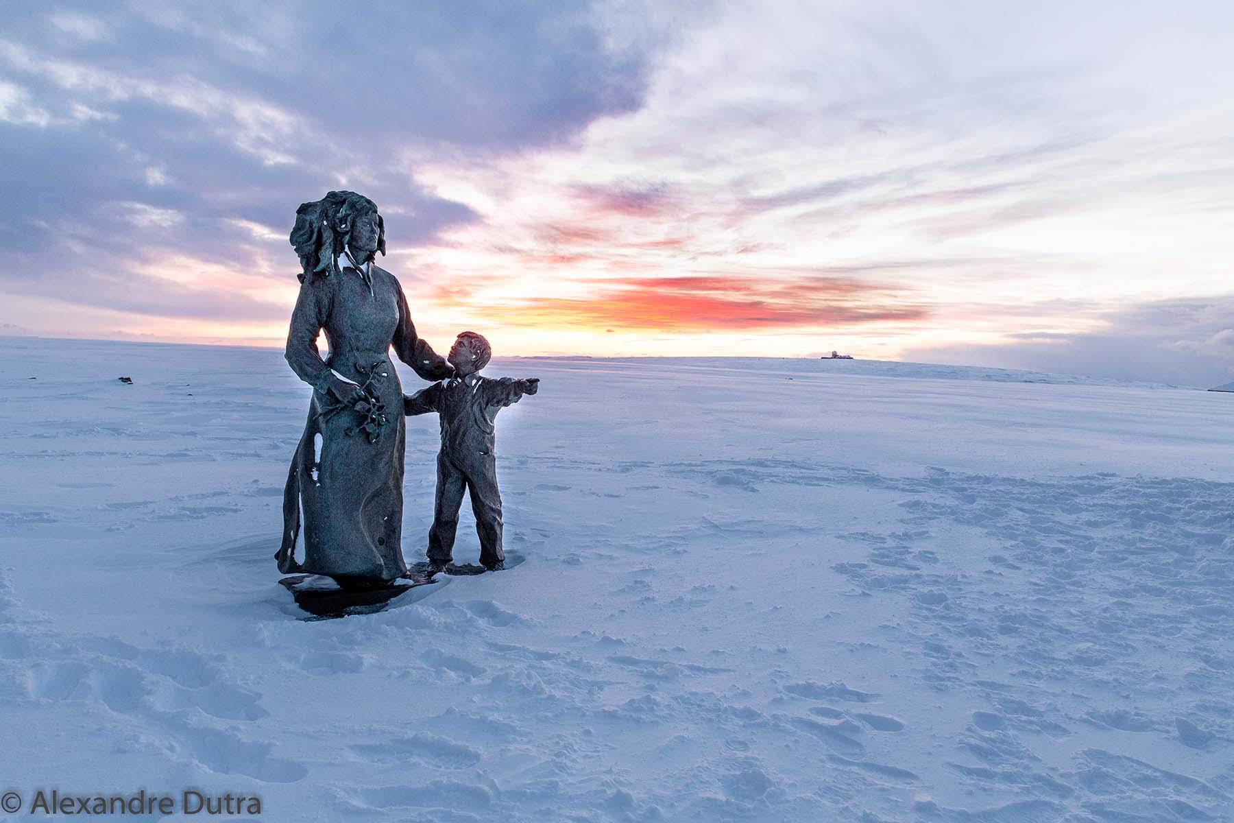 Monumento em Nordkapp, Noruega, Lapônia