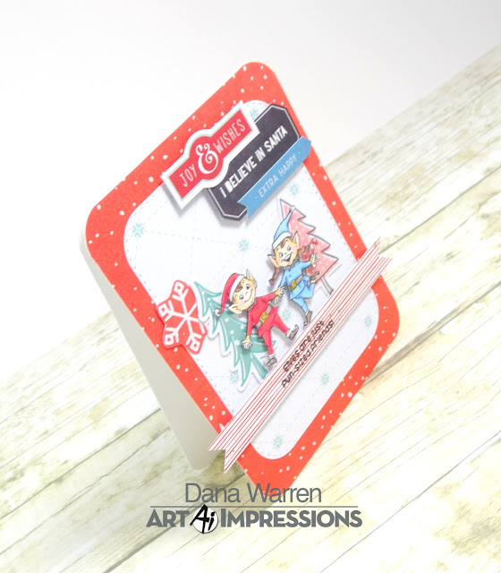 Dana Warren - Kraft Paper Stamps - Art Impressions - Fancy Pants - Christmas