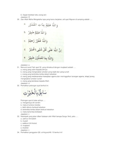Contoh Soal Tes CPNS SKB PAI (Pendidikan Agama Islam)