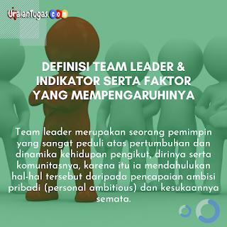 Definisi Team Leader & Indikator Serta Faktor yang mempengaruhinya
