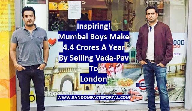 Inspiring! Mumbai Boys Make 4.4 Crores A Year By Selling Vada-Pav To London