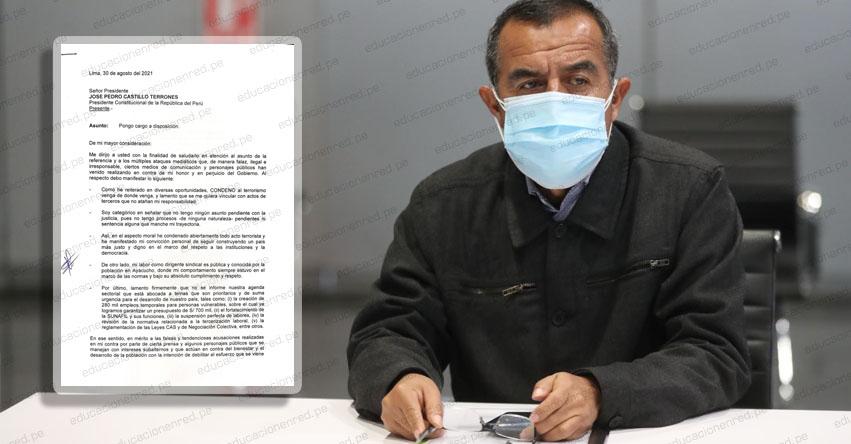 MTPE: Iber Antenor Maraví Olarte renunció al Ministerio de Trabajo y Promoción del Empleo - www.mintra.gob.pe