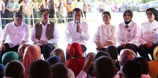 Seperti NTB, Jokowi Minta Korban Gempa Maluku Bangun Rumah Tahan Gempa