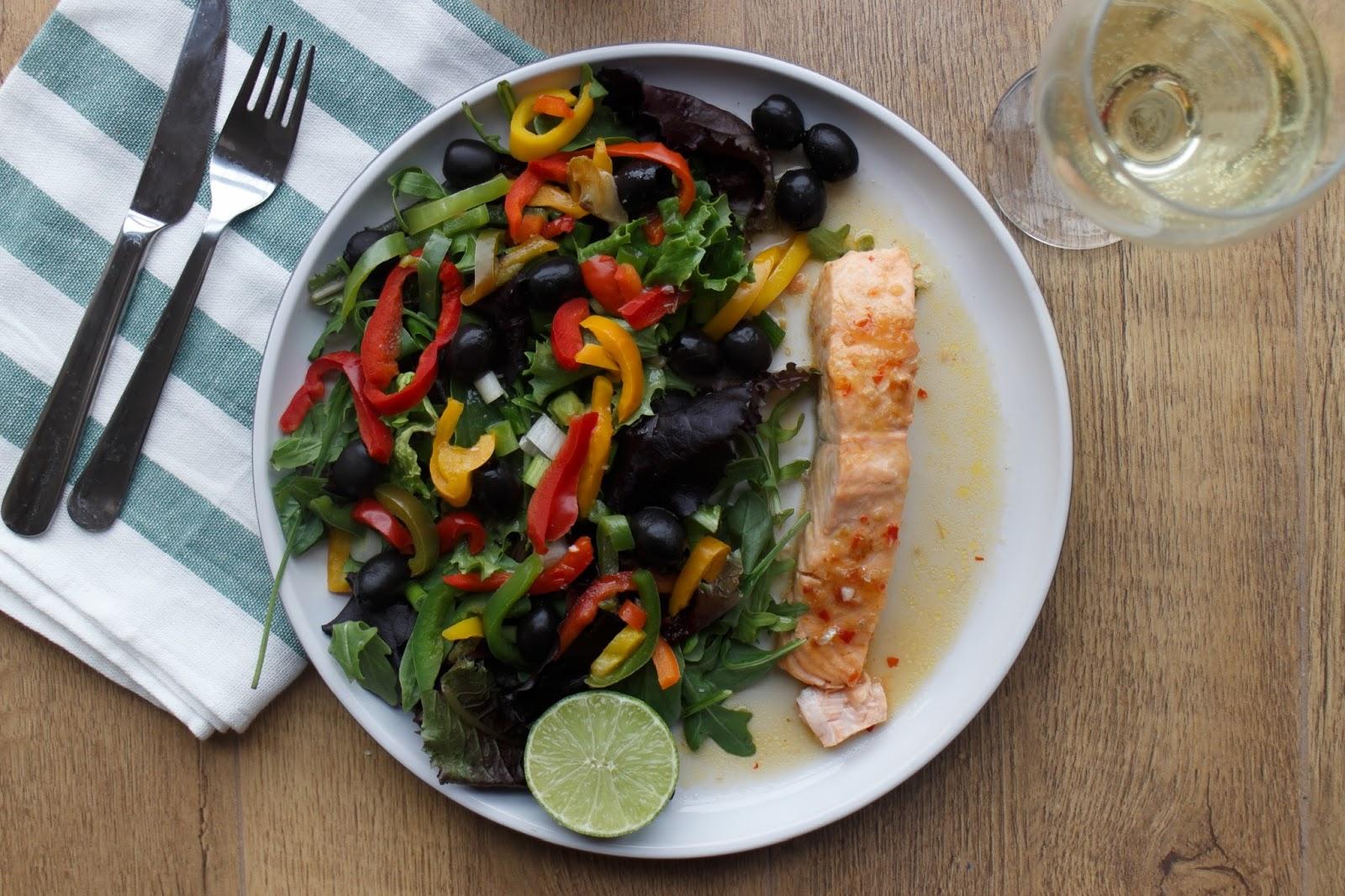 Lime and Chili Salmon Salad