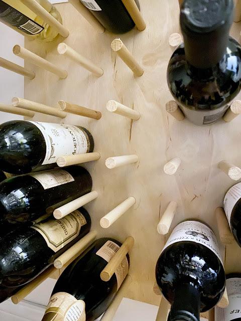 wall peg dowel store wine bottles