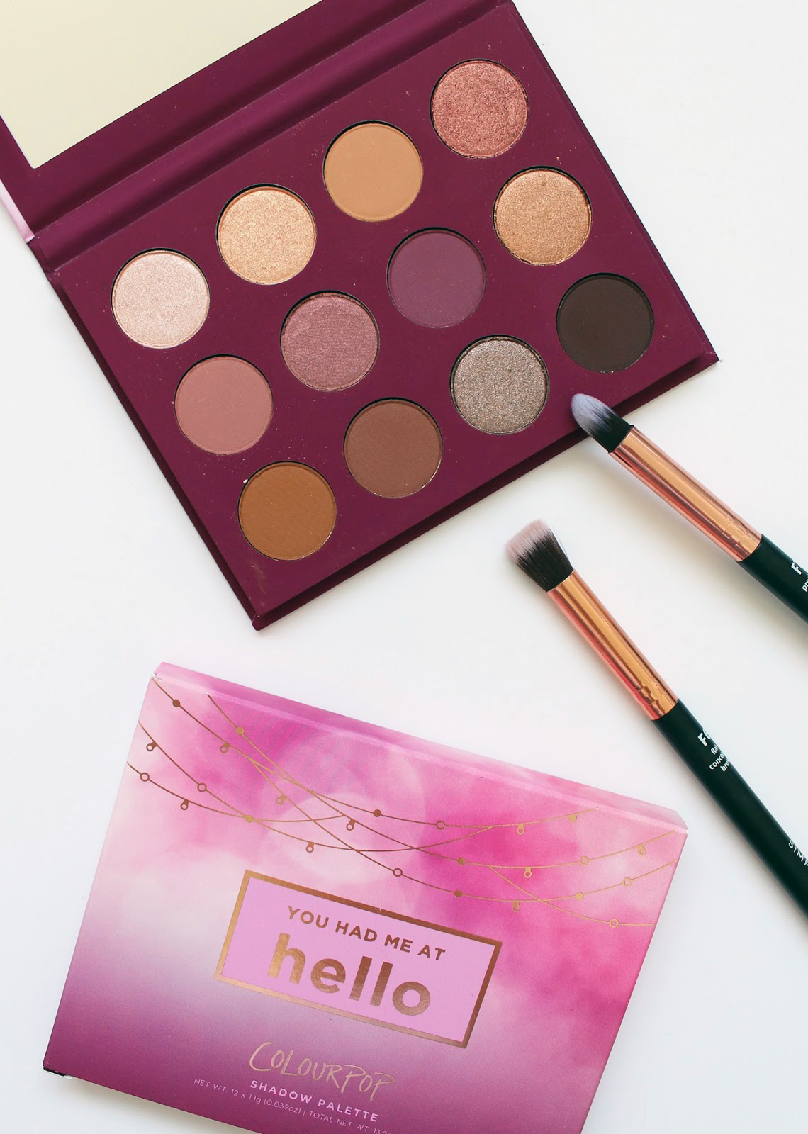 COLOURPOP   You Had Me At Hello Pressed Shadow Palette - Review + Swatches - CassandraMyee
