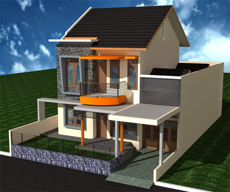 Gambar Arsitek: Gambar Desain Rumah Tingkat Minimalis 2 Lantai Mewah Dan