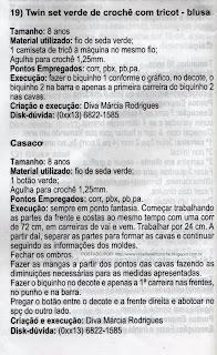 RECEITA DE TWIN SET DE CROCHÊ E TRICÔ