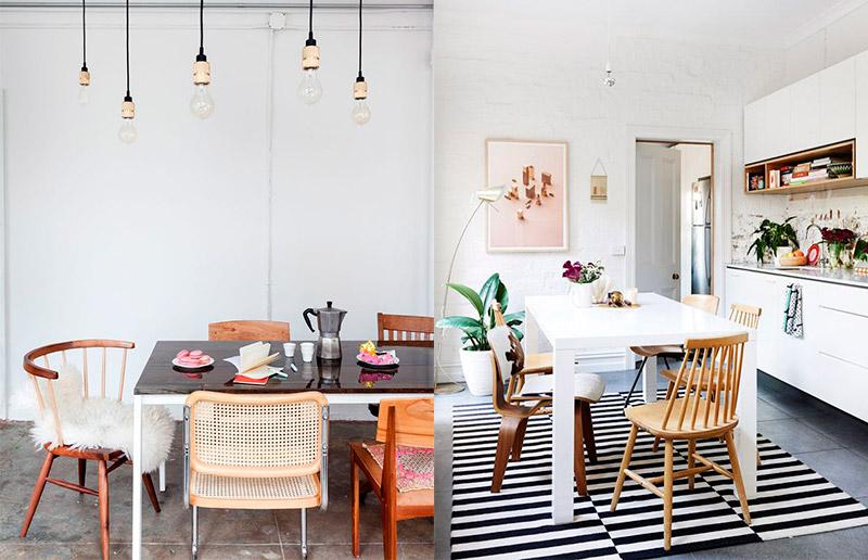 Clássico e sempre lindo: cadeiras de madeira!