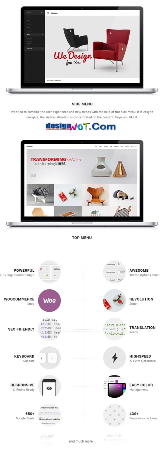 Canvas Interior and Furniture Portfolio WP Theme