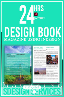 DESIGNING incredible and eye-catching design book, magazine Instruction Manual using indesign in 24h