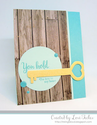 You Hold the Key to My Heart card-designed by Lori Tecler/Inking Aloud-stamps and dies from SugarPea Designs