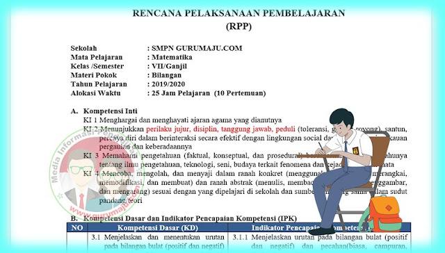 Download RPP Anti Korupsi SMP Kelas 7 Mapel Matematika Terbaru