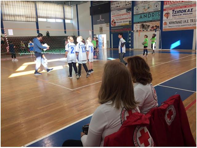 Υγειονομική κάλυψη από τον  Ε.Ε.Σ. Ναυπλίου στους αγώνες πετοσφαίρισης των Δημοτικών Σχολείων Αργολίδας