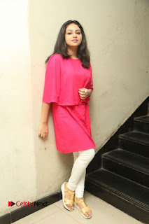 Actress Arundathi Nair Stills in Red Chididar at Bethaludu Success Meet  0139.JPG