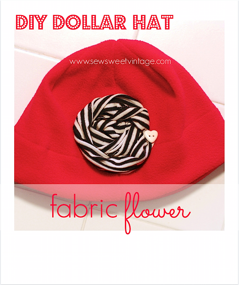 how to make a dollar hat pretty with a fabric flower