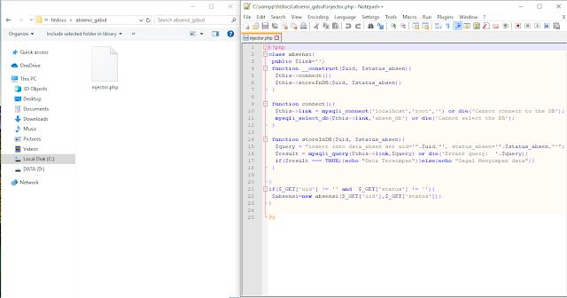 Arduino PN532 mysql database