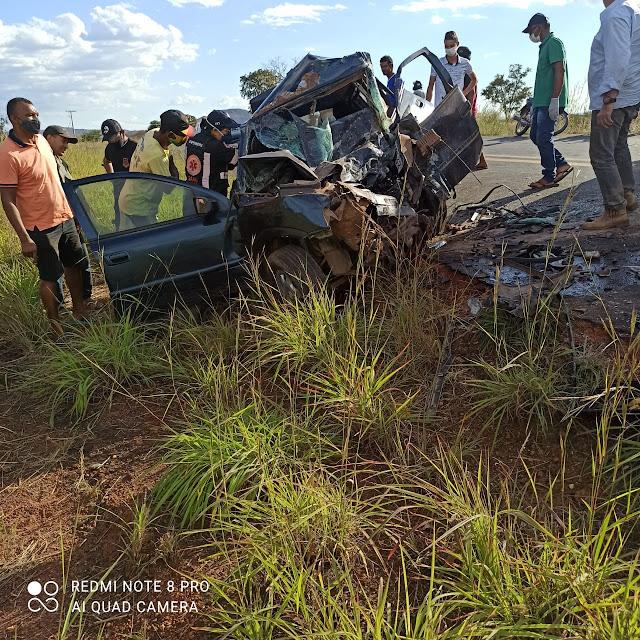 Grave acidente na tarde desta quarta-feira(02) na BA que liga Angical a Barreiras