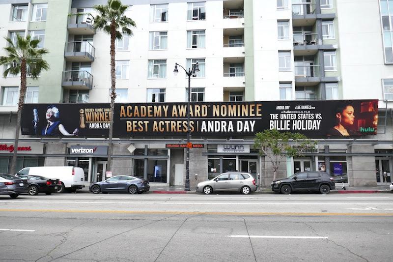 Andra Day United States vs Billie Holiday Oscar billboard