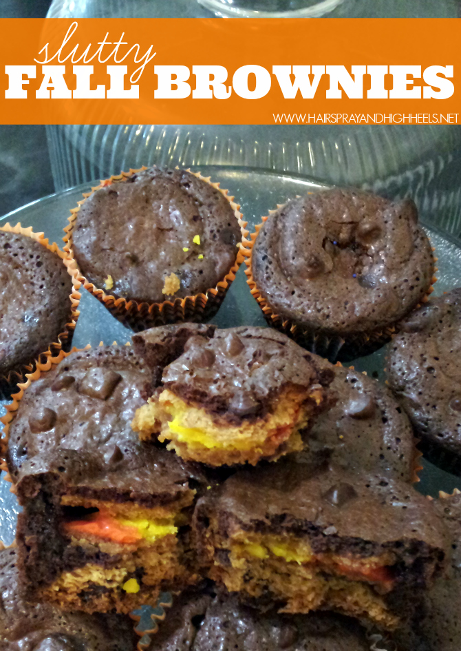 Slutty Fall Brownies