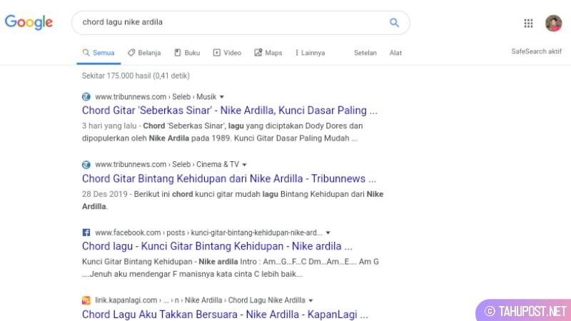 Hasil pencarian chord lagu nile ardila via google