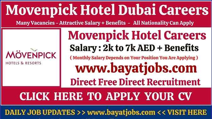 Movenpick Hotel Dubai Careers Latest Updated Vacancies