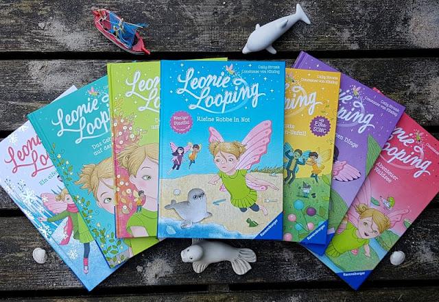 """Heute ein Buch! Die elfenstarke Umwelt-Kinderbuch-Serie """"Leonie Looping"""" und das Thema """"Müll im Meer"""". Ich stelle Euch die gesamte Erstleser-Reihe von Cally Stronk und besonders den neuen 7. Band """"Kleine Robbe in Not"""" vor, in dem die Umweltproblematik an Strand und Meer in einer spannenden Geschichte für Kinder ab sieben Jahren erzählt wird."""