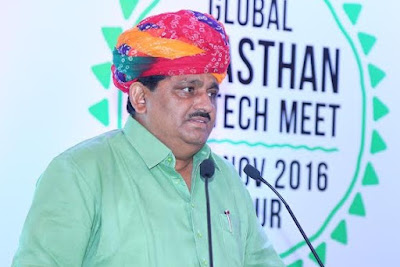 Rajasthan Agriculture Minister, Prabhu Lal Saini, GRAM, Jaipur, Roadshow in Hyderabad, Global Rajasthan Agritech Meet-2016
