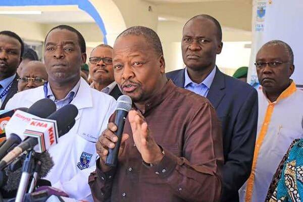 CS Healthy Mutahi Kagwe on daily Coronavirus briefing