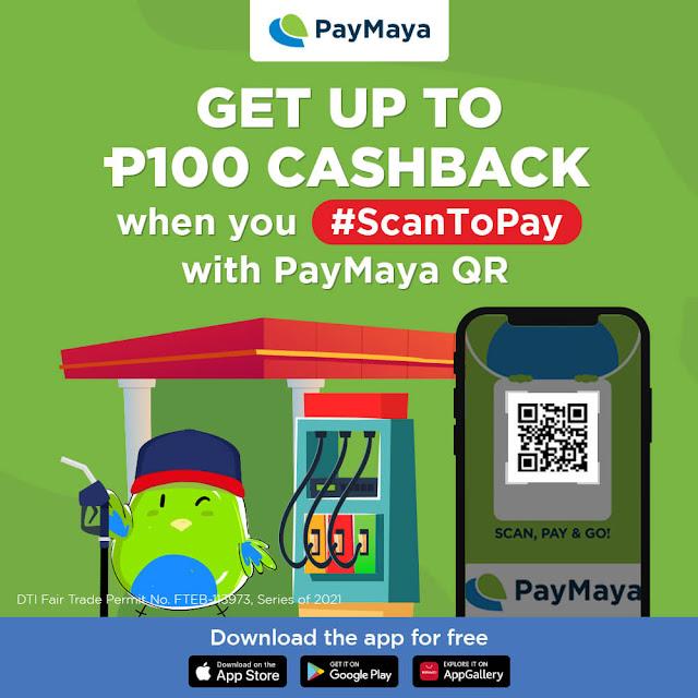 PayMaya Fuel Cashback Promo Gizmo Manila
