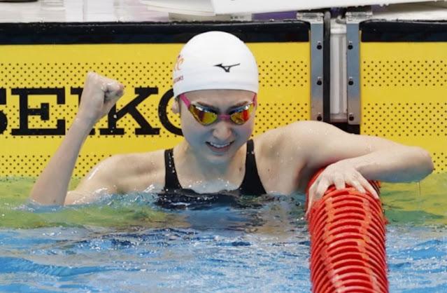 Nadadora Rikako Ikee em competição