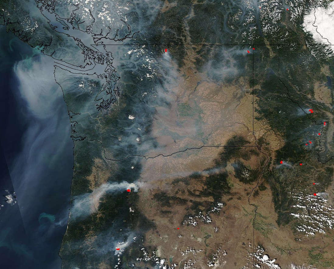 Washington Smoke Information Smoke Monster Overran Washington But - 2017 map of air pollution in us