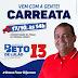 Beto de Lulão e Fábio Galvão fazem carreata neste sábado (17/10)