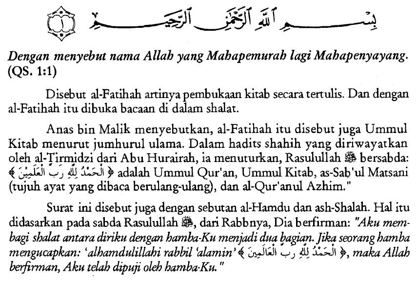 Tafsir Surat Al Fatihah Ayat 1 Tafsir Ibnu Katsir Islam Tahkik