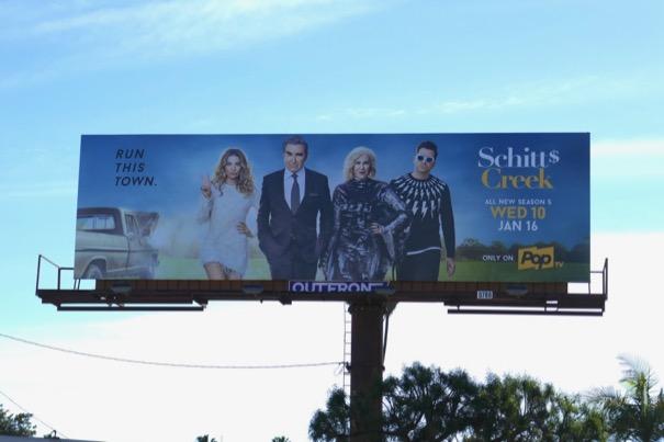 Schitts Creek season 5 billboard