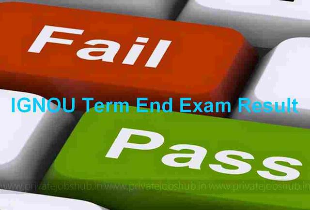 IGNOU Term End Exam Result