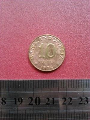 10 rupiah tahun 1974