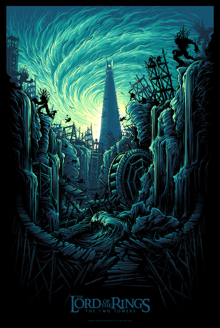 Inside The Rock Poster Frame Blog Dan Mumford Lord Of The