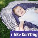 Hangin' Round Baby Blanket, from I Like Knitting magazine