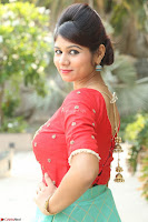 Lucky Shree Looks super cute in Bright Red Green Anarkali Dress ~  Exclusive 013.JPG