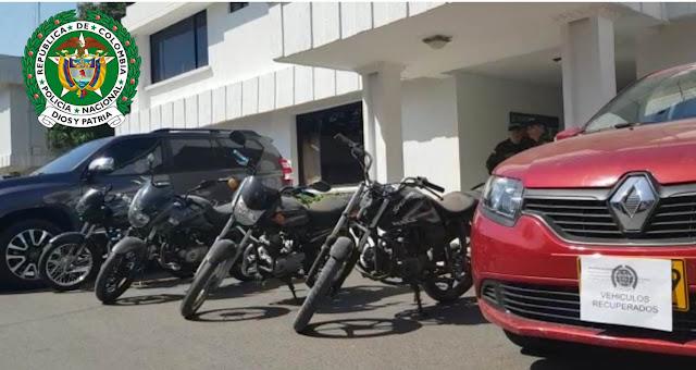 40 motos y ocho carros recuperó la Policía en el Cesar en el 2020