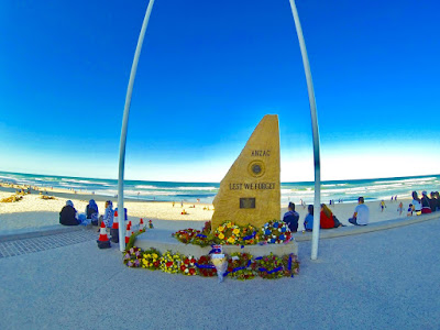 ANZAC Day Surfers Paradise Beach