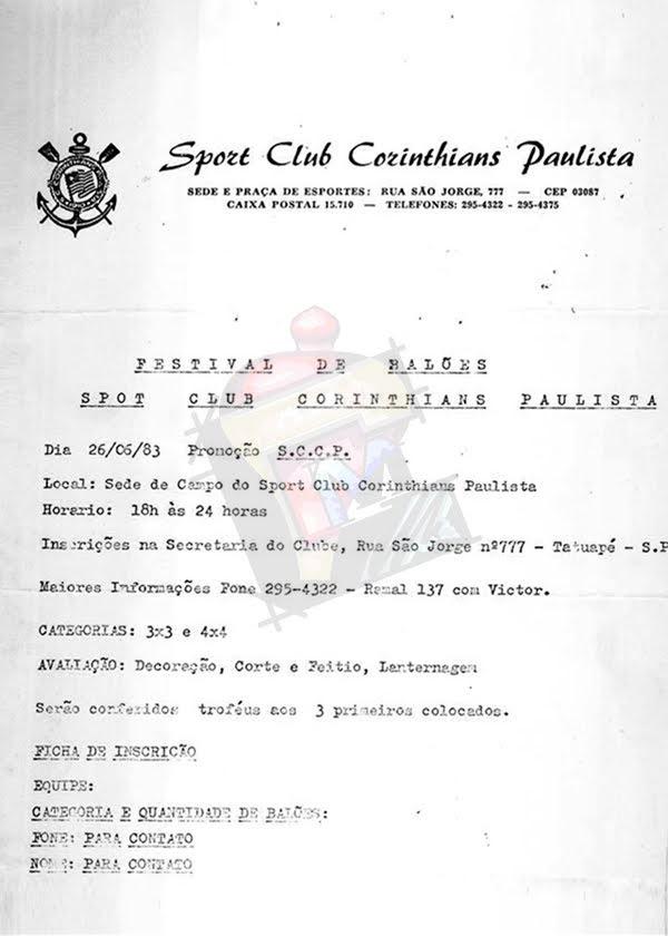 02 - Festival De Balões Sport Club Corinthians Paulista