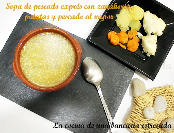 Receta de sopa exprés de pescado