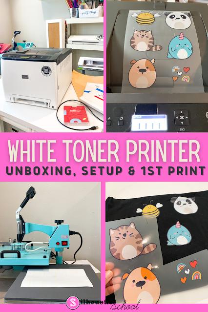 silhouette 101, silhouette america blog, white toner printer, uninet icolor, home printer
