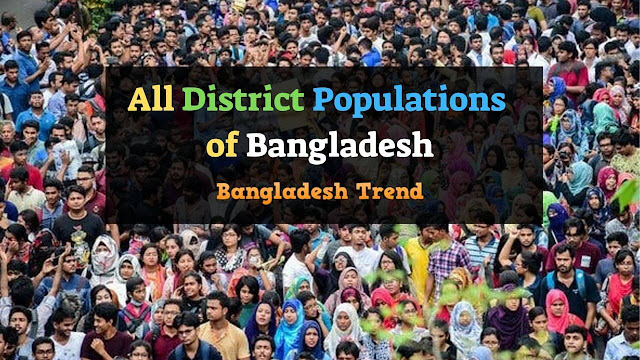 All District Populations of Bangladesh