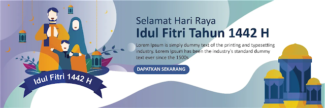 download Desain Banner Idul Fitri Keren Gratis