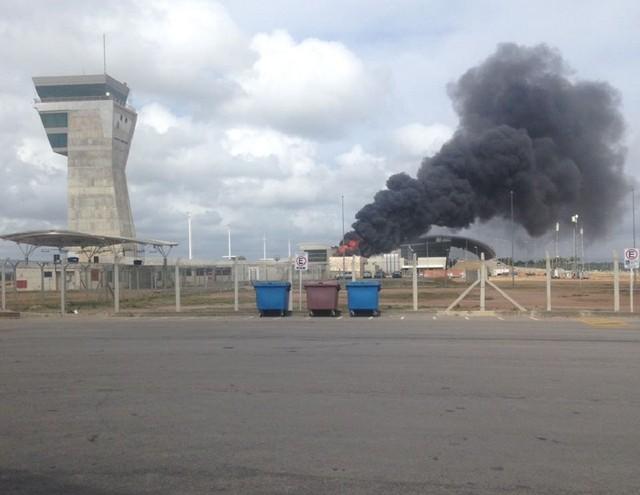 Aeroporto de Natal tem incêndio em torre de refrigeração